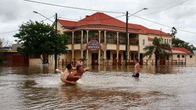 The Club Hotel during the 2010-11 Chinchilla Floods