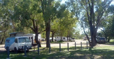 Chinchilla Weir's main camping area