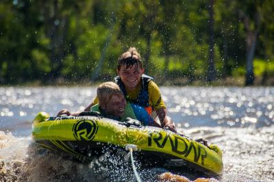 Having fun at the Chinchilla Weir - Photo Courtesy Andrew Dixon Photography